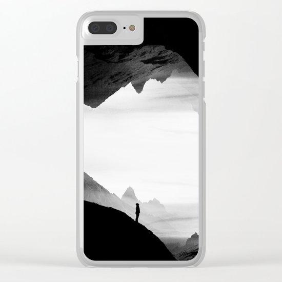 black wasteland isolation Clear iPhone Case