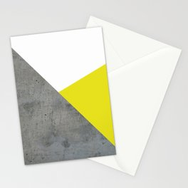 Concrete vs Corn Yellow Stationery Cards