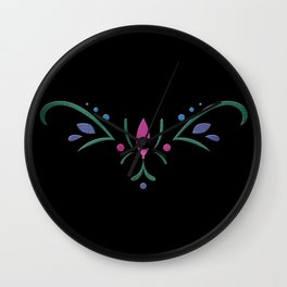 Anna Coronation Embroidery Wall Clock