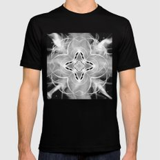 Silver Ornament at Night Mens Fitted Tee MEDIUM Black