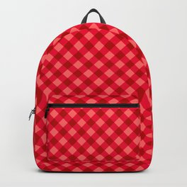 Gingham - Strawberry Color Backpack