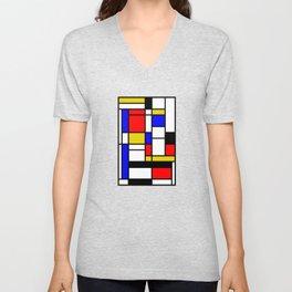 Art work inspired to P. Mondrian (n.1) Unisex V-Neck