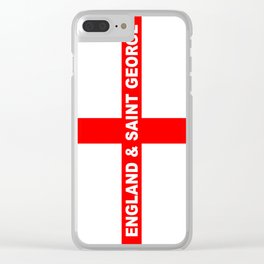 Flag of England and Saint George Clear iPhone Case