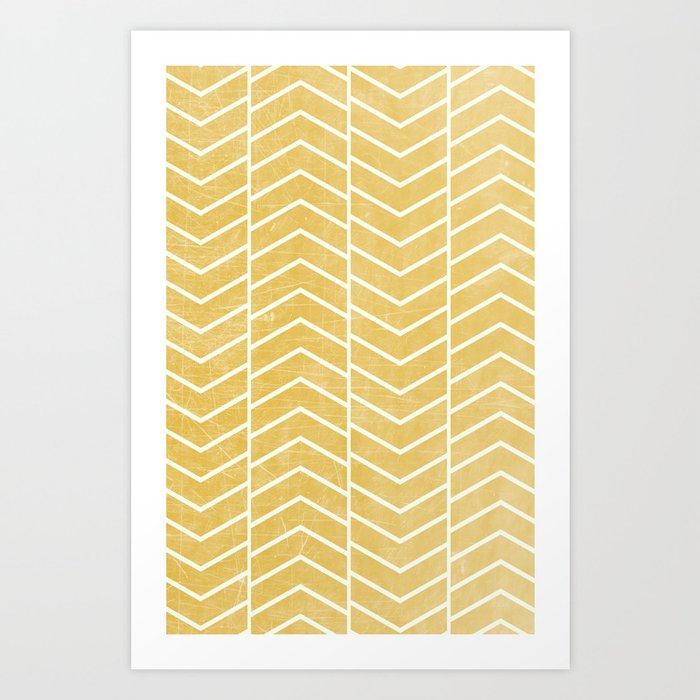 Yellow Chevron Kunstdrucke