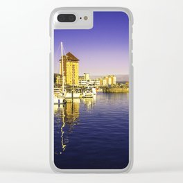 Swansea Marina Reflections Clear iPhone Case