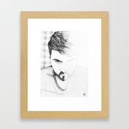 2 faces Framed Art Print