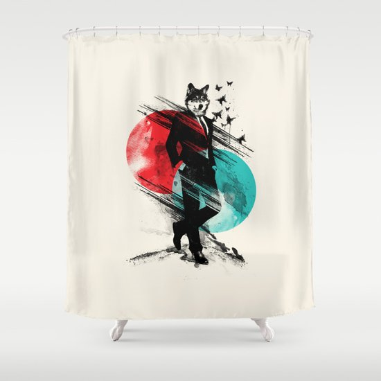 Wolfman Shower Curtain