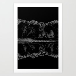 Knik River Mts. Pop Art - 4 Art Print