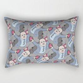 Run Away Office Boy tessellation Rectangular Pillow