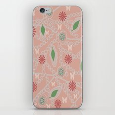 Floral pattern with butterflies iPhone & iPod Skin