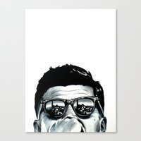 jfk Canvas Prints featuring JFK by beeisforbear