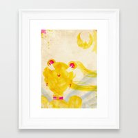 sailor moon Framed Art Prints featuring Sailor Moon by Art by Colin