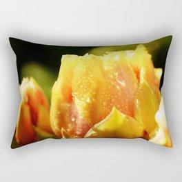 Raindrop Cactus Flower Rectangular Pillow