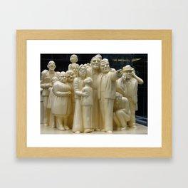 La Foule Illuminee By Raymond Mason Framed Art Print