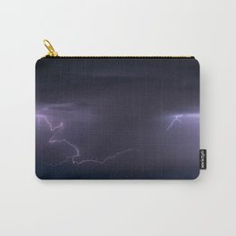 Summer Lightning Storm On The Prairie IV - Nature Landscape Carry-All Pouch