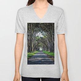 Cypress Tree Tunnel Unisex V-Neck