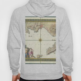 Vintage Map Print - 1794 map of the Gulf of Naples Hoody