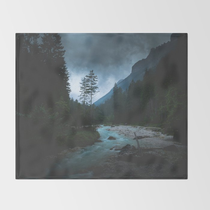 Landscape Mood #creek Throw Blanket