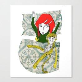 Tina&Ape Canvas Print