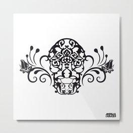 SKULL FLOWER 04 Metal Print