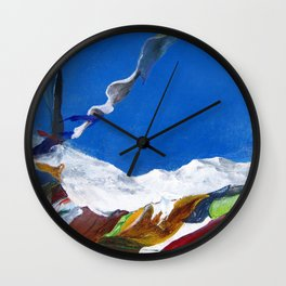 Tibetan laundry Wall Clock