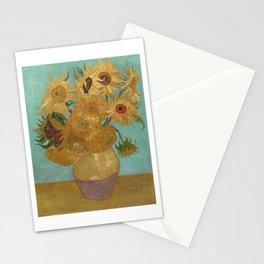 Vincent Willem van Gogh, 1889, Sunflowers / Vase with Twelve Sunflowers, Oil On Canvas Artwork Stationery Cards