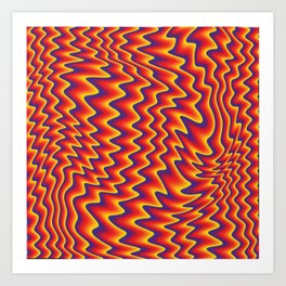 liquify illusion Art Print