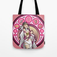 digimon Tote Bags featuring Digimon Cards: Kari by Dralamy