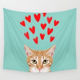 Mackenzie - Orange Tabby Cute Valentines Day Kitten Girly Retro Cat Art cell phone Wall Tapestry