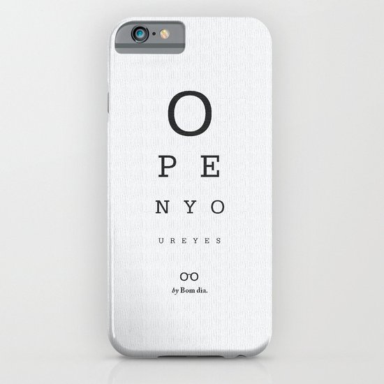 Open your eyes - Typographic iPhone & iPod Case