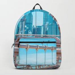 New York City Bridge View (Color) Backpack