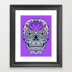 Lotus Skull Framed Art Print