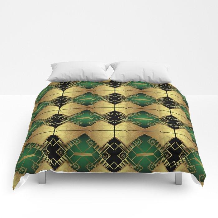 Vintage Art Decó Pattern Comforters