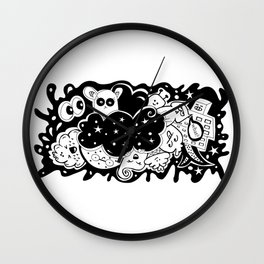What? - It's Doodle baby! Wall Clock