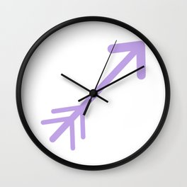 Purple Boho Wall Clock