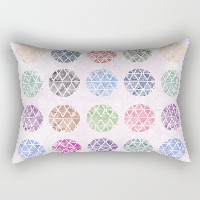 Colorful Geometric II Rectangular Pillow