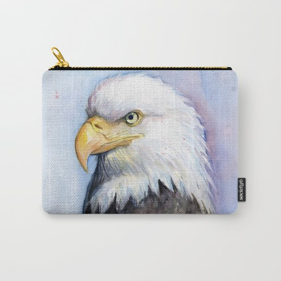 Bald Eagle Watercolor Bird Wildlife Animals Carry-All Pouch
