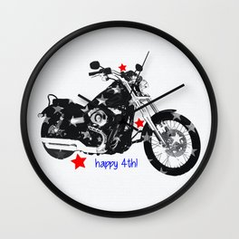 Happy 4th! Wall Clock