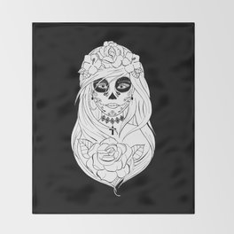 Santa Muerte NB Throw Blanket