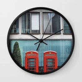 Telephone Booth, London Wall Clock