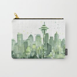 Seattle Watercolor Painting Carry-All Pouch
