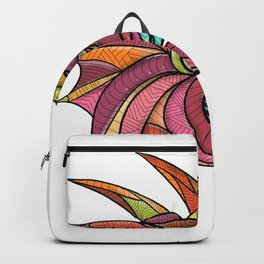 Dragon Breathing Fire Mandala Backpack