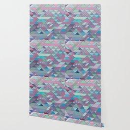 Triangle Pattern no.3 Violet Wallpaper