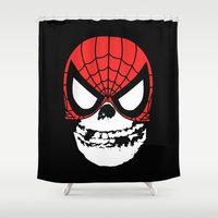misfits Shower Curtains featuring Misfit Sense by Iamzombieteeth Clothing