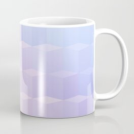 Pastel Cube Pattern Ombre 1 - pink, blue and vi Coffee Mug