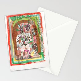 Haa wrestling man with horns and swords Stationery Cards