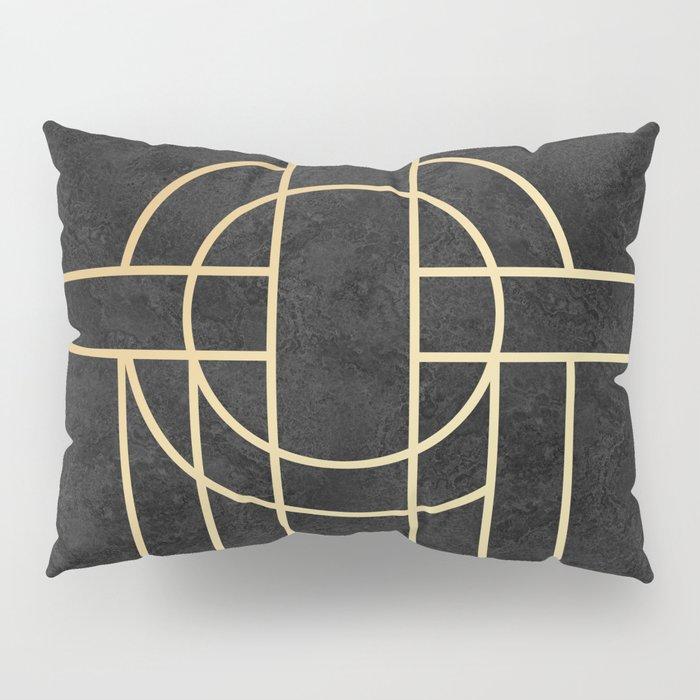 Art Deco Black Marble Kissenbezug