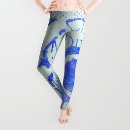 Dk. Blue Flower Leggings