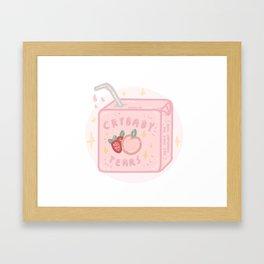 Peach&strawberry tears Framed Art Print