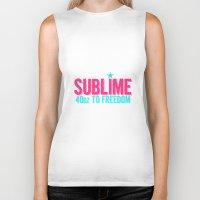 sublime Biker Tanks featuring SUBLIME by MsSarahKane